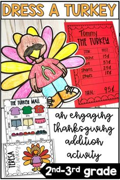 12 Fabulous Thanksgiving Crafts That Are Sure to Inspire You - Fashion, Health and Life Thanksgiving Classroom Activities, Thanksgiving Math, Math Classroom, Holiday Activities, Classroom Ideas, Teaching Addition, Addition Activities, Math Activities, Math Crafts