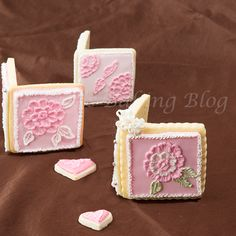Valentine Sugar Cookie Card recipe with step by step instructions