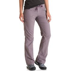 Lightweight pants for tackling steep switchbacks on a day hike or heading out on a multi-day trip. They roll up to capri-length for sunny days, and the external drawcord with belt loops lets you tune the fit in the waist. The gusseted crotch and articulated knees increase your range of motion as you duck and dodge obstacles on the trail, and the fabric dries out quickly, in case creek crossings don't go quite as planned.