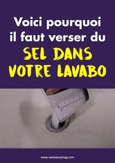 Voici pourquoi il faut verser du sel dans votre lavabo - DIY and Crafts 2019 Art Studio Organization, Diy Organisation, Cleaning Solutions, Cleaning Hacks, Art Studio Design, Rustic Wall Clocks, Gewichtsverlust Motivation, Gifts For Office, Thing 1