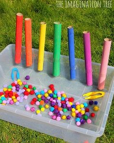 Colour sorting tubes