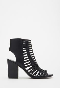 Caged Peep Toe Sandals | FOREVER21