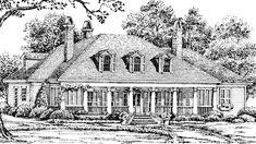 Butler's Corner SL-1316 LOVE the 2nd floor layout, pillars, chimneys, dormers