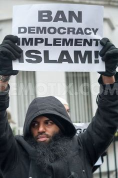 Islam protest in London...they are openly telling everyone what they want to do with the rest of us.