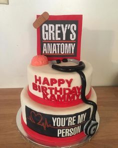 Ideas For Birthday Party Quotes Food Ideas Greys Anatomy Memes, Grey Anatomy Quotes, 14th Birthday, Birthday Parties, Bolo Tumblr, Pastel Grey, Beautiful Birthday Cakes, Grey Stuff, Its My Bday