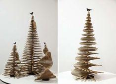 Alberi di Natale di cartoncino - Alberelli di cartoncino semplice