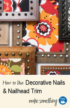 DIY Home Decorating: How to Use Decorative Nails & Nailhead Trim. Learn the tools to apply, how to space, and design inspiration via @dritzsewing