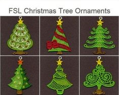 FSL Dazzling Christmas Ornament Free Standing Lace Machine   Etsy Lace Design, Iron On Patches, Christmas Tree Ornaments, Machine Embroidery Designs, Stitch, Etsy, Holiday Decor, Angels, Gluten