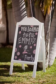 Ballerina Party | CatchMyParty.com...obviously sign will say Taylor