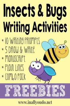 Insects & Bugs Writing Activities FREEBIES