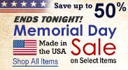 Memorial Day - Made in the USA Sale