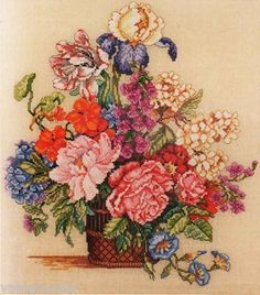 Bucilla Heirloom Counted #crossstitch  Spring Floral #DIY #crafts #decor #needlework #crossstitching #gift #madeinusa