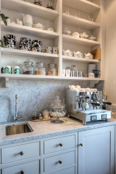 creative coffee station for guest room or in the kitchen-image via on