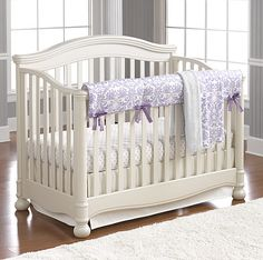 Lavender Baby Bedding | Baby Girl Bedding | Purple Baby Bedding | Liz and Roo Fine Baby Bedding