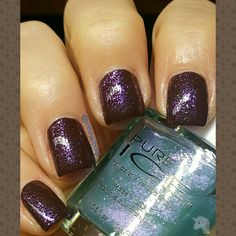 Revlin French roast topped with pure ice shimmer wing iris.  9/16