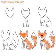 fox head drawing - Căutare Google