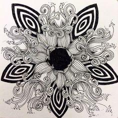The Bright Owl | Zendala Dare #77  Random Acts of Zentangle
