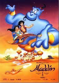 Aladdin Robin Williams is brilliant. The rest of the film not so much. Walt Disney Princesses, Walt Disney Movies, Walt Disney Characters, Disney Movie Posters, Disney Cartoons, Disney Pixar, Disney Amor, Disney Love, Disney Magic
