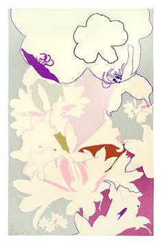 Sombras Brancas II by Lourdes Castro. Pop Art. flower painting