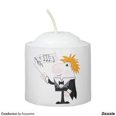 Shop Conductor Votive Candle created by houseme. Music Backpack, Personalized Candles, Conductors, Votive Candles, Backpacks, Create, Characters, Design, Women's Backpack