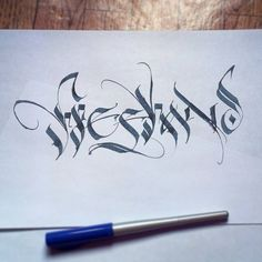 Just playing  #Calligraphy #sketch #parallelpen