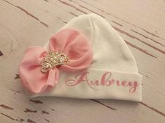 Baby Girl baby hat personalized hospital hat newborn hat