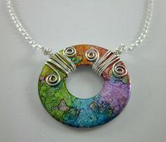 Washer pendant designed by Shawna Lane Creations. www.facebook.com/?utm_content=buffer375ed&utm_medium=social&utm_source=pinterest.com&utm_campaign=buffer/?utm_content=buffer375ed&utm_medium=social&utm_source=pinterest.com&utm_campaign=buffer...