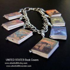 Harry Potter Mini Book Charm bracelet