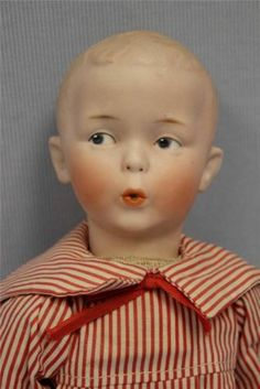 "14"" Antique Bisque Gebruder Heubach Whistling Jim Doll All factory Original"