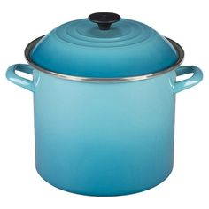 Whip up hearty stocks and stews in this enameled steel pot, a colorful addition to your collection of kitchen essentials.  Product: ...$100