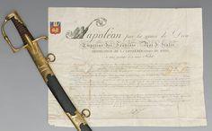 Lettres patentes et sabre du général comte de Valence.