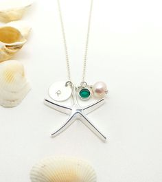 Sterling Silver Star Fish Necklace - Everyday necklace gift for Mother, Friends, Bride Maids.