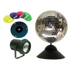 ADJ Combo Instant Mirror Ball Package - Many Exciting Items Included Stage Lighting, Lighting Store, Underwater Party, Unique Mirrors, Mirror Ball, Mounting Brackets, A Table, Vibrant Colors, Dj