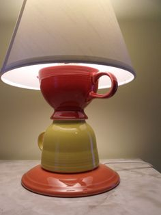 Milk and Teacup Lamp by catastrophiccrafts on Etsy, $45.00