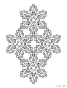 137 Printable Intricate Mandala Coloring Pages от KrishTheBrand