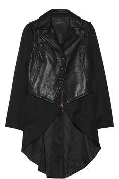 Rag & bone|Biker wool and leather coat|NET-A-PORTER.COM