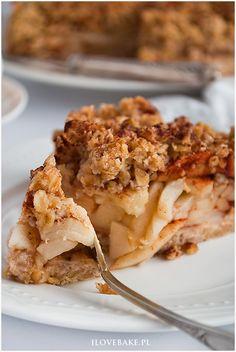 Szarlotka z płatkami owsianymi - I Love Bake Apple Pie, Lasagna, Food And Drink, Baking, Ethnic Recipes, Fitness, Interior, Indoor, Bakken