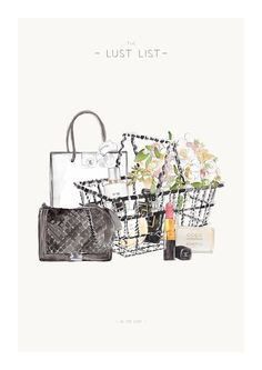 "Image of LUST LIST | A3 Print ""In The Cart"""