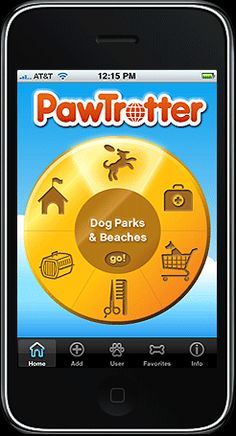 PawTrotter iPhone app—find and review dog parks, pet-friendly hotels, dog beaches, pet stores, groomers, veterinarians and more!