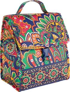 Vera Bradley Lunch Sack Venetian Paisley.  Cassidy' new lunch box.  Also bought on clearance for a great savings!
