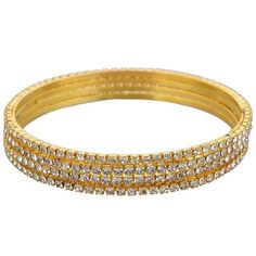 Looking for cool and funky #jewelry accessories. Try this beautiful Golden Stone Bangles. Wear it with ethnic or western outfit. Get it now online from Lucky jewellery. #jewellery #fashion #summer #wedding  http://ift.tt/1ZSLvLJ