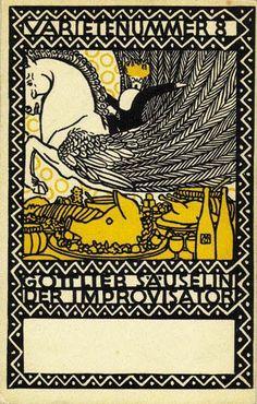 Wiener Werkstätte postcard ▪ Artist unknown ▪ Ref 921