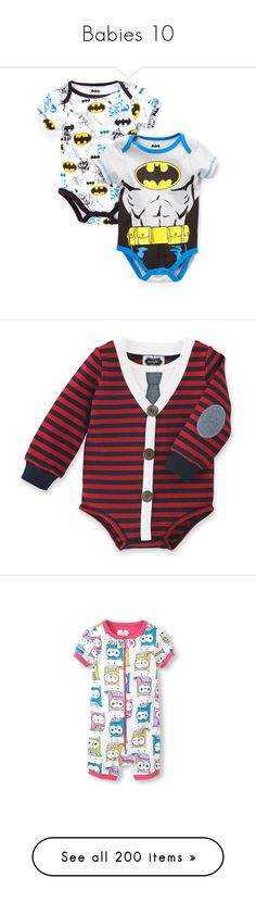 """Babies 10"" by masanichka ❤ liked on Polyvore featuring baby, baby clothes, kids, baby boy, baby stuff, black, boy clothes, baby boy clothes, baby one pieces and navy"