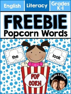 FREE 4 FOLLOWERS - Print & Play - Popcorn Sight Word Game