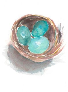 Nest Watercolor (Spring Free Printable)