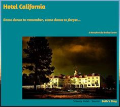 Hotel California In this eerie Storybook, Daphne and Felix Cross check into the Hotel California and — just as you would expect — they can check out any time they like, but they can never leave . . . LINK: https://sites.google.com/site/hotelcaliforniabybaileycarter/