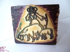 Antique French School Rubber Stamp  Shepherd by frenchjenesaisquoi, $8.00