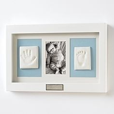 If only they would stay babies forever. This kit captures that first year with a 4 x 6 photo and handprints or footprints. Just press baby's hand or foot into the soft, mess-free, nontoxic clay. Requires no mixing, baking or painting and is easy to assemble. $59.95
