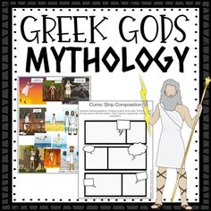 High School Greek Mythology Curriculum - perfect for teaching Greek Mythology in high school! Secondary Resources, Teacher Resources, Greek Mythology Gods, Greek Gods, Middle School, High School, Highschool Freshman, English Classroom, Music Lessons
