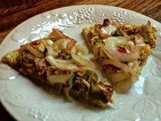 Quinoa pizza crust: Gluten free and dairy free.